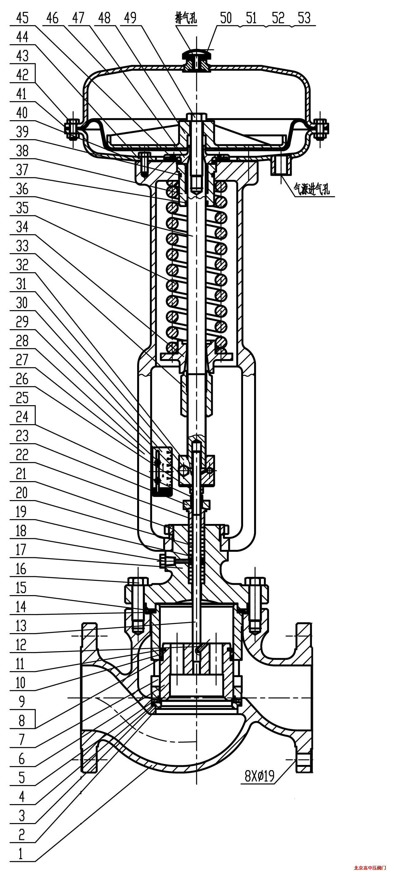紧急切断阀(气动薄膜式)图片
